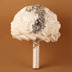Rose Round Satin Bridal Bouquets