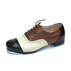 Unisex Real Leather Flats Tap Dance Shoes