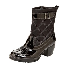 Women's Chunky Heel Boots Mid-Calf Boots With Buckle shoes