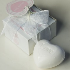 Heart Shaped Bath & Soaps With Ribbons/Tag