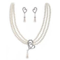 Beautiful Alloy With Pearl Crystal Ladies' Jewelry Sets