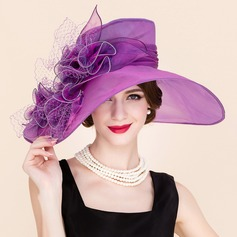 Ladies' Elegant Spring/Summer/Autumn Organza/Tulle With Bowler/Cloche Hat