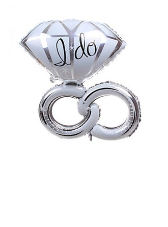 Bague en diamant Aluminium Foil Ballon