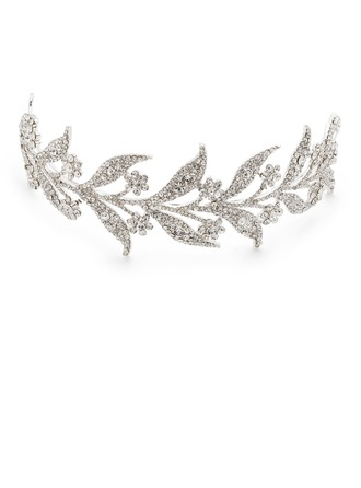 Leaves Shaped Rhinestone/Alloy Tiaras/Headbands