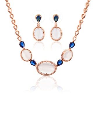 Beautiful Copper With Cat's Eye Women's/Ladies' Jewelry Sets
