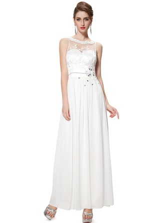Polyester/Chiffon/Satin With Beaded/Embroidery Maxi Dress
