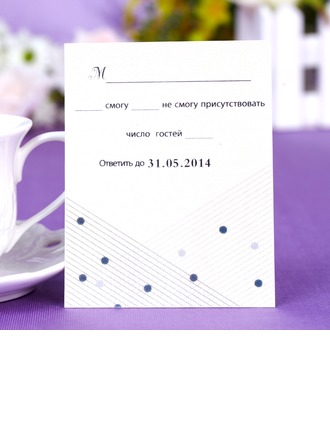 """Personalized """"Musical Notes"""" Pearl Paper Response Cards"""