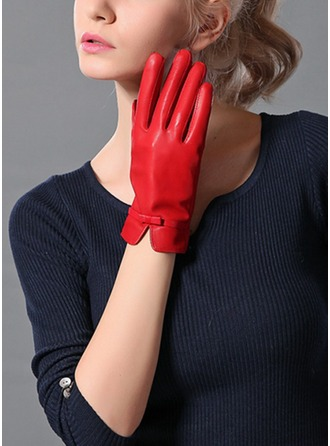 Sheep Leather Wrist Length Fashion Gloves(More Colors)