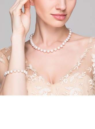 """Elegant """"AA"""" Pearl/Freshwater Pearls With Pearl Jewelry Sets"""