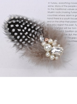 Amazing Imitation Pearls/Feather Combs & Barrettes