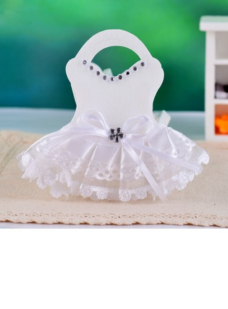 Wedding Dress Design Favor Bags With Laces (Set of 12)