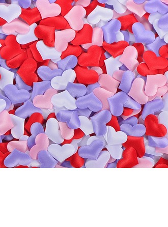 Heart Shaped Satin Sponge Confetti