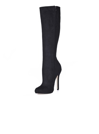 Suede Stiletto Heel Knee High Boots shoes