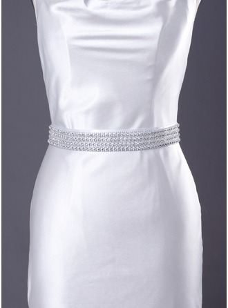 Delicate Satin Women's Wedding/Bridal Ribbon Sash With Beading