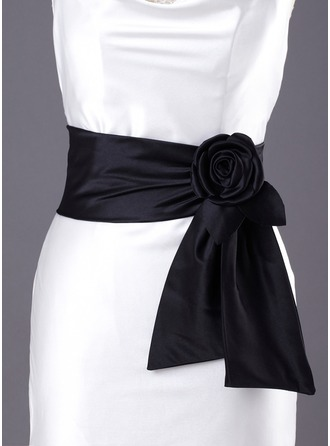 Satin Wedding/ Bridal With Flower Ribbon Sash