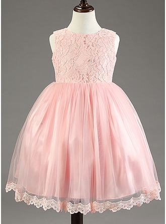 Princess Cotton Blends Girl Dress With Lace