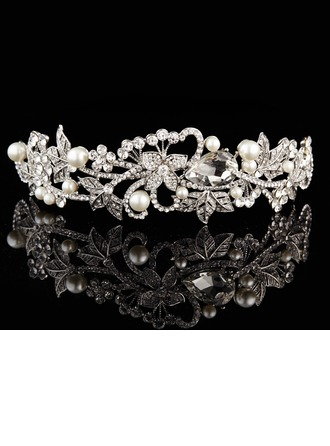 Leaves Shaped Alloy/Silver Plated Tiaras