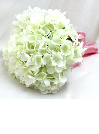 Lovely Round Satin/Silk Bridal Bouquets/Bridesmaid Bouquets