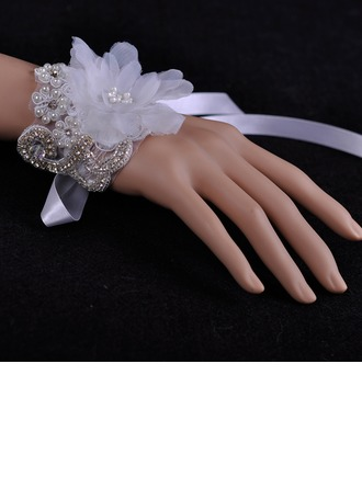 Beautiful Czech Stones/Lace/Organza Ladies' Bracelets