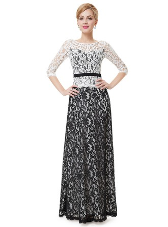 Lace/Satin/Tüll mit Lace Maxi Kleid