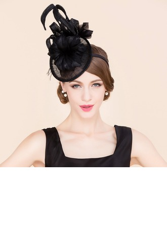 Dames Charmant Batiste avec Feather Chapeaux de type fascinator