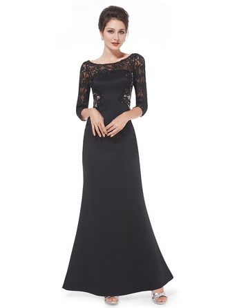 Lace/Satin/Tulle With Lace/Stitching Maxi Dress