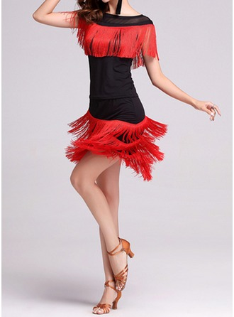 Women's Dancewear Polyester Latin Dance Outfits