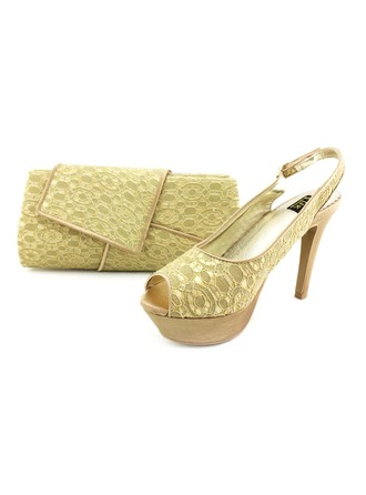 Fashional Lace Shoes & Matching Bags