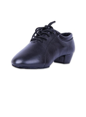 Men's Kids' Leatherette Heels Latin With Lace-up Dance Shoes