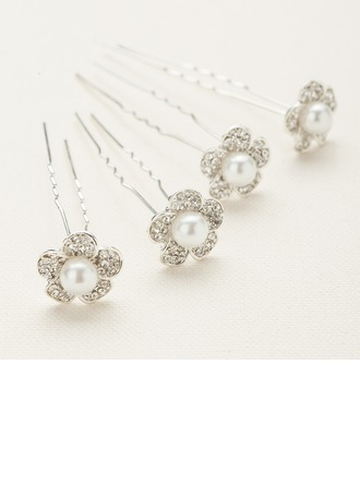 Special Alloy/Austrian Crystal Hairpins(Set of 4)
