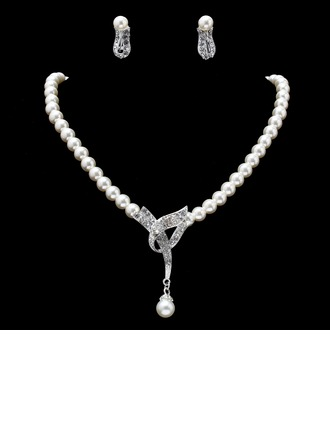 Hottest Alloy With Pearl/Rhinestone Women's Jewelry Sets