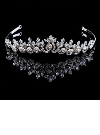 Glamour Strass/Perles d'imitation/Cuivre Tiaras