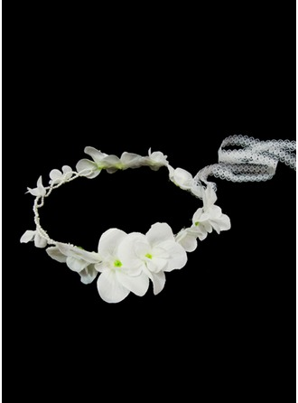 Artificial Silk With Imitation Pearls Flower Headband