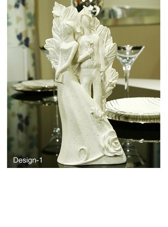 Attractive Bride And Groom Resin Ornament (Sold in a single piece)