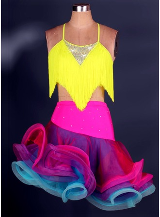 Women's Dancewear Spandex Latin Dance Outfits