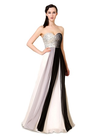 Satin/Tulle/Silk Blend With Sequins/Color-block Maxi Dress