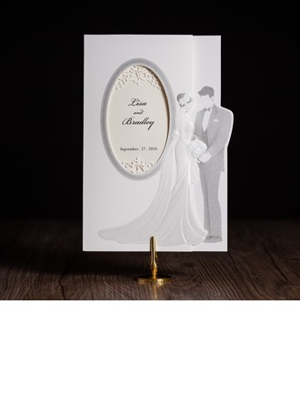 Bride & Groom Style Side Fold Invitation Cards