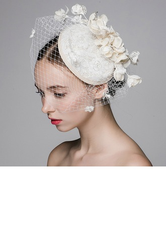 Ladies' Fashion Cambric/Net Yarn With Imitation Pearls Fascinators