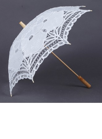 Adorable Cotton Wedding Umbrellas