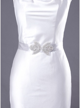 Nice Satin Women's Wedding Ribbon Sash With Rhinestone(More Colors)