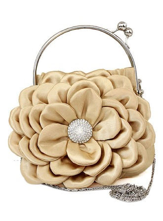 Silk With Flower Handbag