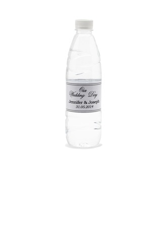 "Personalized ""Our Wedding Day"" Waterproofing Material Water Bottle Sticker"