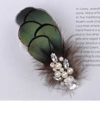 Fashion Imitation Pearls/Feather Combs & Barrettes
