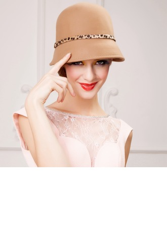 Ladies' Eye-catching Autumn/Winter Wool With Bowler/Cloche Hat