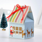 Lovely Christmas Design Cupcake Boxes With Ribbons (Set of 12) (050028830)