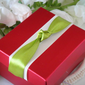 Simple Cuboid Favor Boxes With Ribbons (Set of 12)