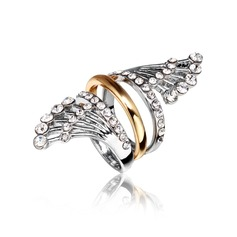 Unique Alloy/Gold Plated With Rhinestone Ladies' Rings