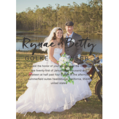 Whimsical Style/Photo Invitation Cards