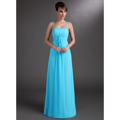 Empire Floor-Length Chiffon Bridesmaid Dress With Ruffle
