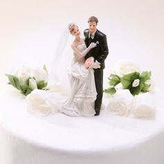 """Sweet Moment"" Resin Wedding Cake Topper (119030557)"